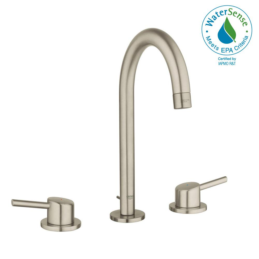 Grohe Concetto 8 In Widespread 2 Handle 12 Gpm Bathroom Faucet In