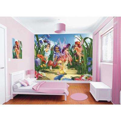 120 in. H x 96 in. W Magical Fairies Wall Mural