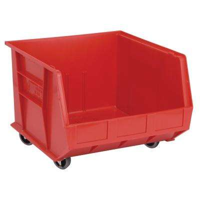 Ultra Series Stack and Hang 30 Gal. Storage Bin in Red (3-Pack)