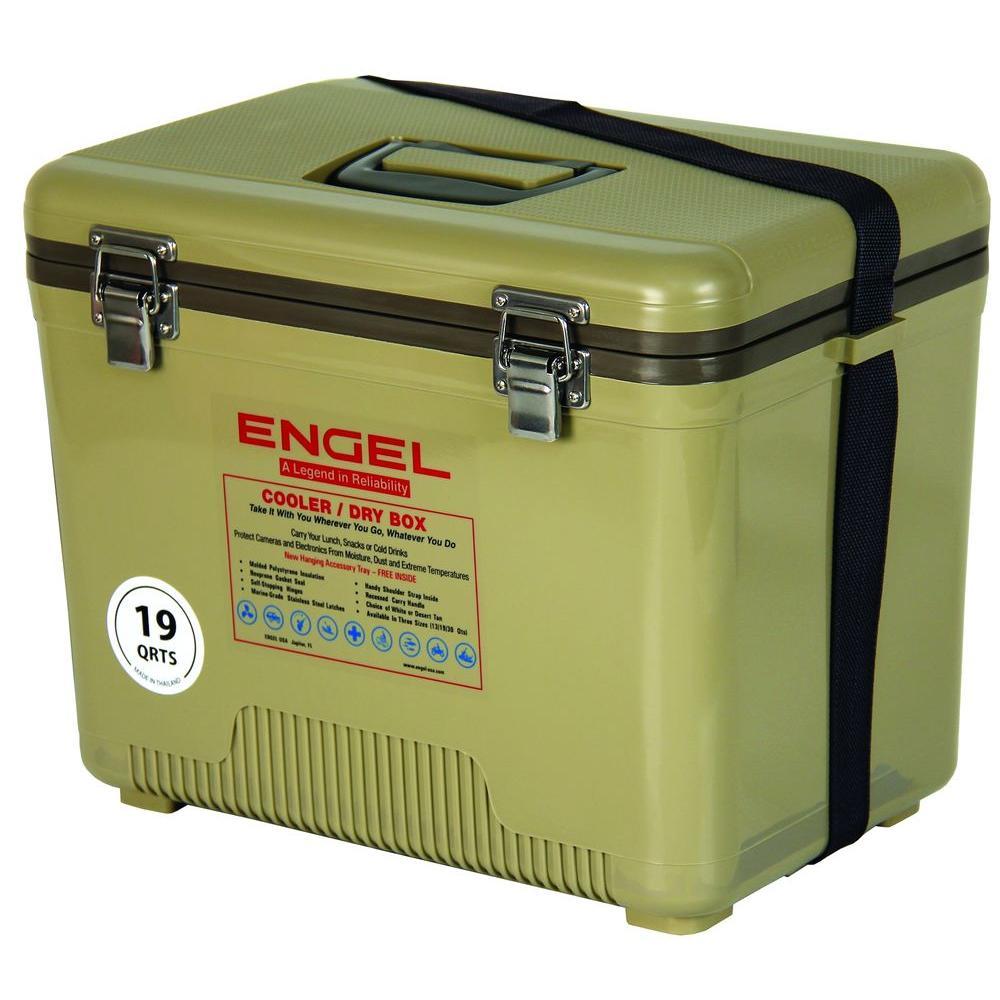 19 Qt. Ice/Dry Box in Tan