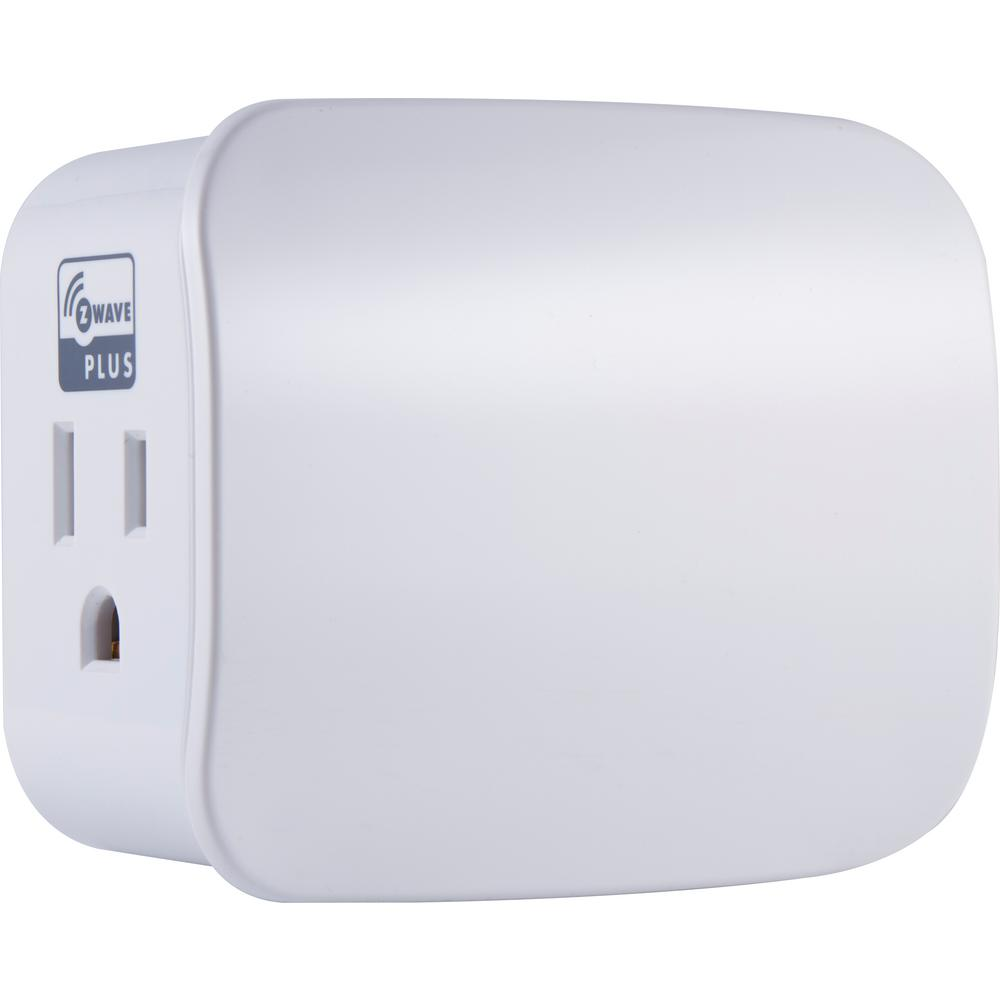 Z-Wave Plus Plug-In Smart Speciality Light Switch Single Outlet in White