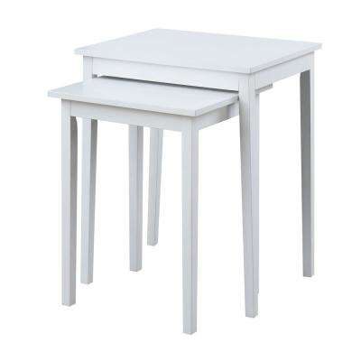 American Heritage White Nesting End Tables (Set of 2)