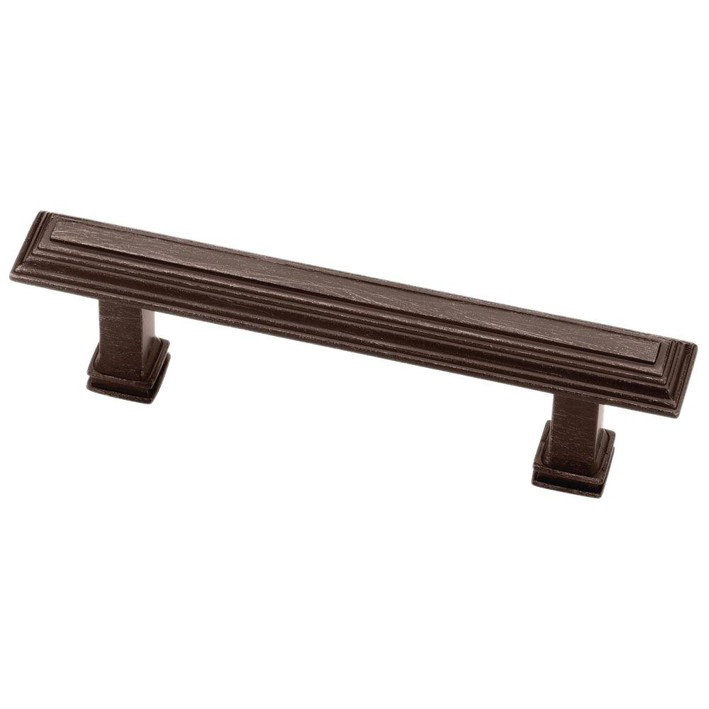 3 in. (76mm) Venetian Bronze Raised Panel Step Cabinet Pull