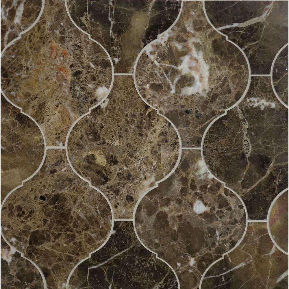 Bath Floor Mosaic Tile Tile The Home Depot