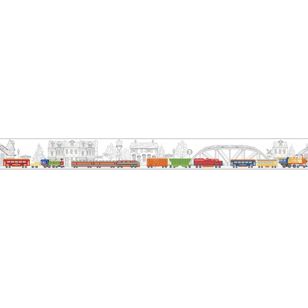 Growing Up Kids All Aboard Removable Wallpaper Border