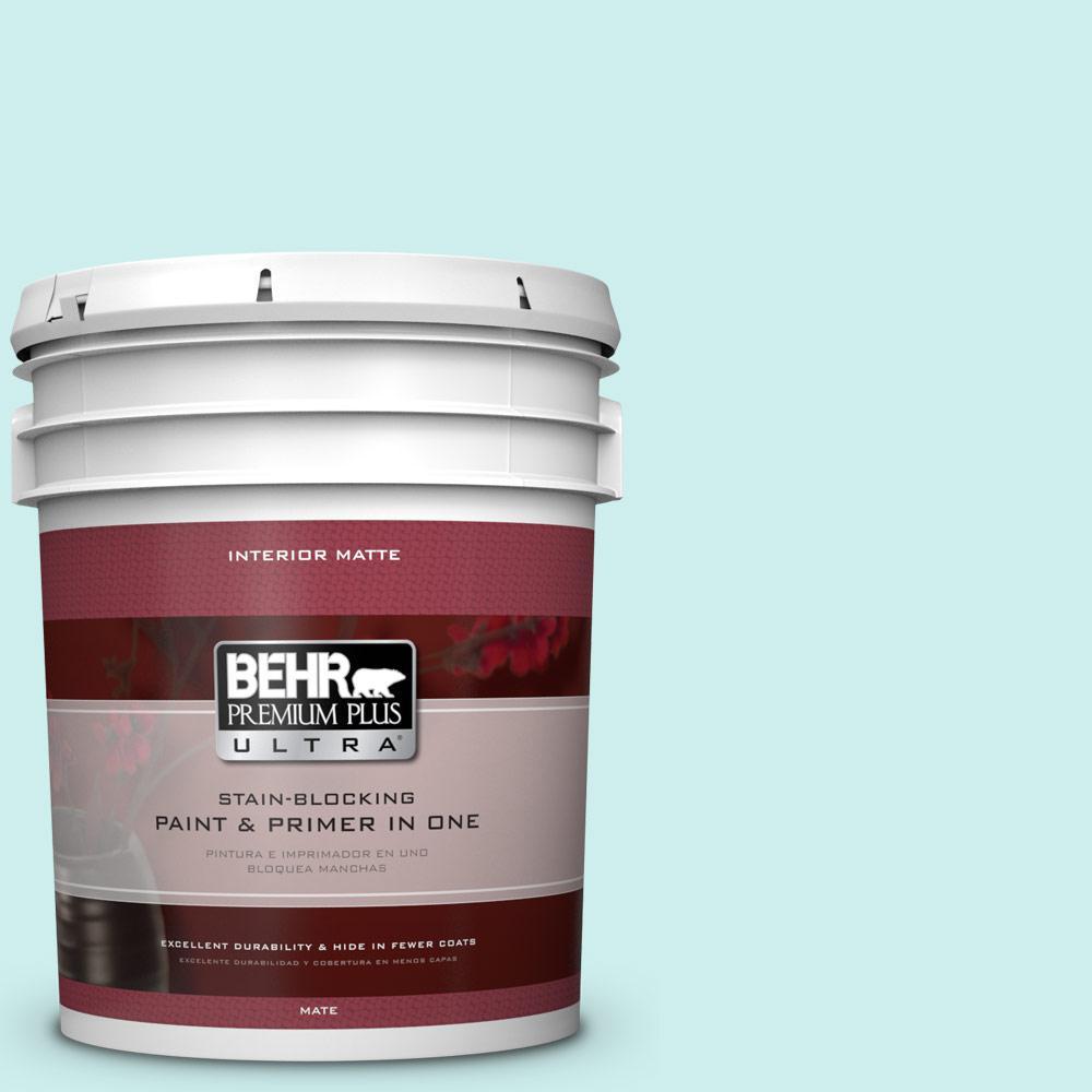 BEHR Premium Plus Ultra 5 gal. #510C-1 Ionic Sky Flat/Matte Interior Paint
