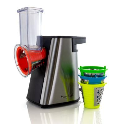 Megachef Stainless Steel Electric Salad Maker, Salad Shooter, Shredder, Slicer, Chopper and Shooter