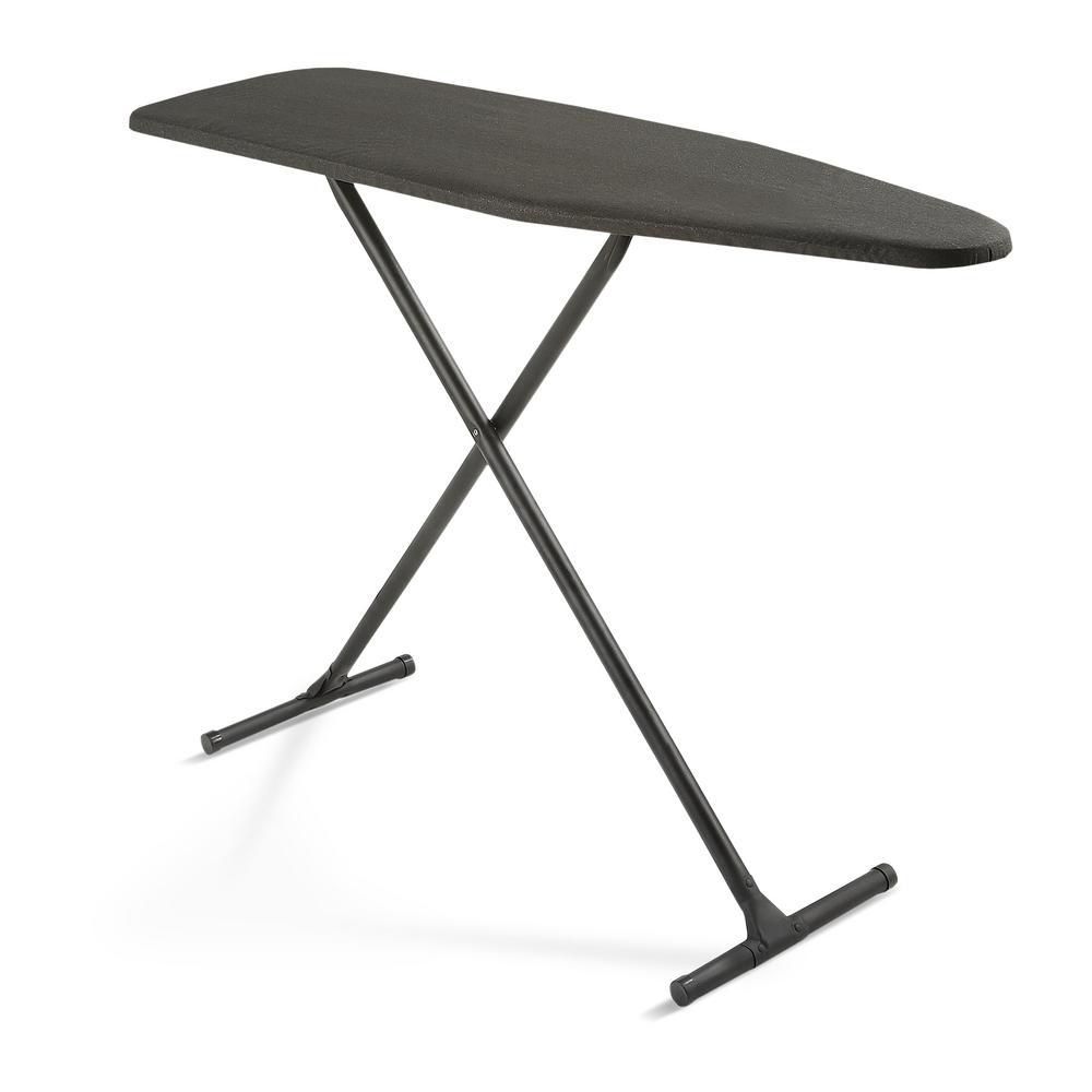 T-Leg Ironing Board with Black Metallic Cover