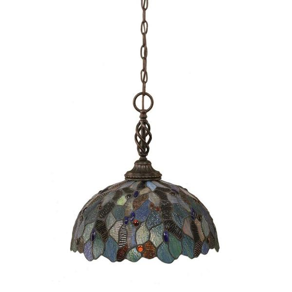 Concord 1-Light Dark Granite Incandescent Ceiling Pendant
