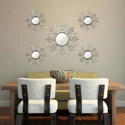 5-Piece Champagne Burst Wall Mirror
