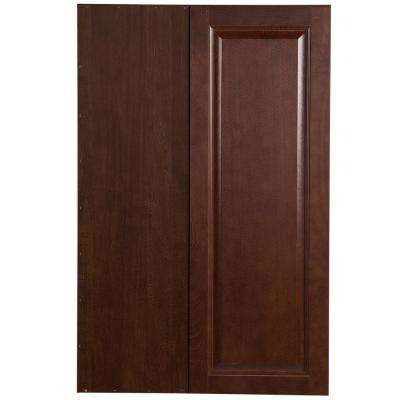 Benton Assembled 27x36x12.6 in. Blind Wall Corner Cabinet in Amber