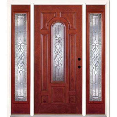 Superieur 67.5 In.x81.625in.Lakewood Zinc Center Arch Lt Stained Cherry Mahogany Lt