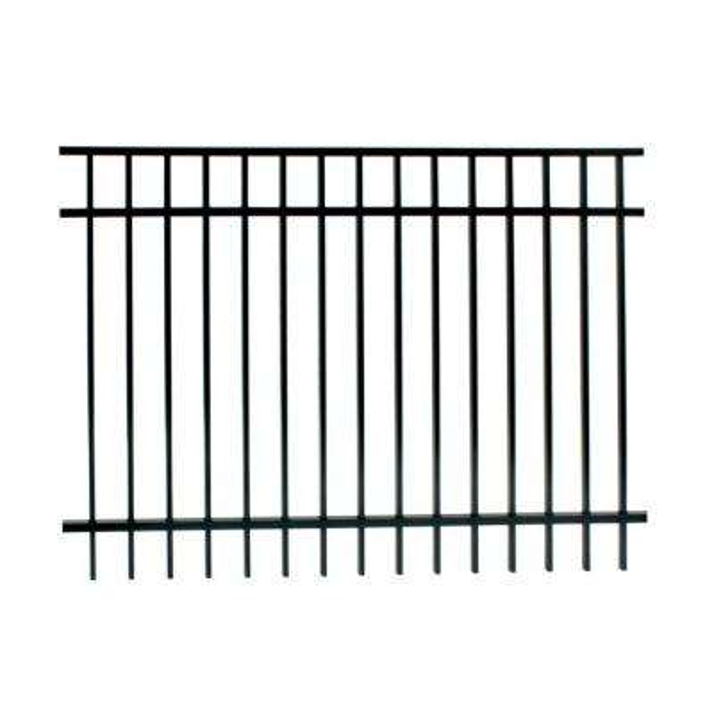 Vinings 5 ft. H x 6 ft. W Black Aluminum Pre-Assembled Fence Panel