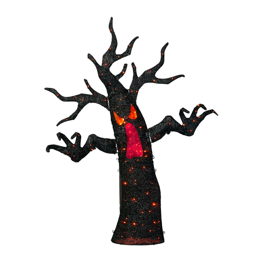 Home Accents Holiday 72 In. Halloween Animated Ghost Tree