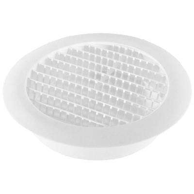 6 in. White Round Soffit Vent (4-Pack)