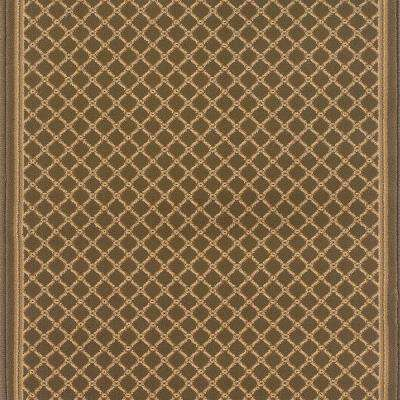 Kurdamir Derby Green 26 in. W x Your Choice Length Stair Runner