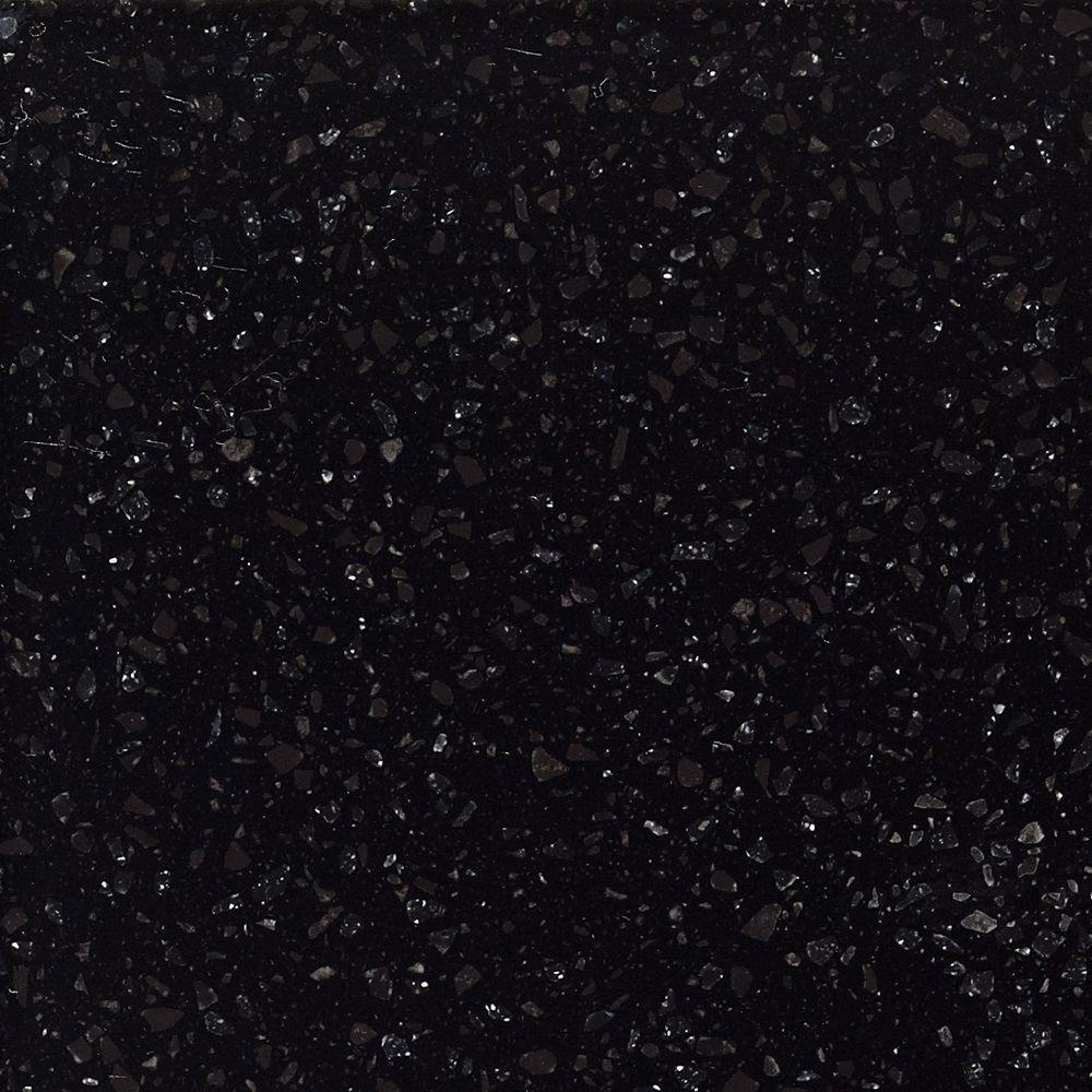 Corian 2 in. x 2 in. Solid Surface Countertop Sample in Deep Night Sky