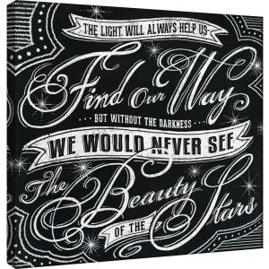 d39f0508e58 PTM Images 15 in. x 15 in. ''Honest Words - Stars'' Printed Canvas ...