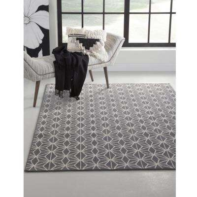 Broadway Stars Grey 8 ft. x 11 ft. Area Rug
