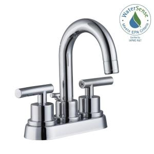 Glacier Bay Dorset 4 inch Centerset 2-Handle Bathroom Faucet in Chrome by Glacier Bay
