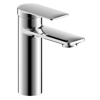 Pont Neuf Single Handle Single Hole Bathroom Faucet with Flat Lever Handle in Chrome