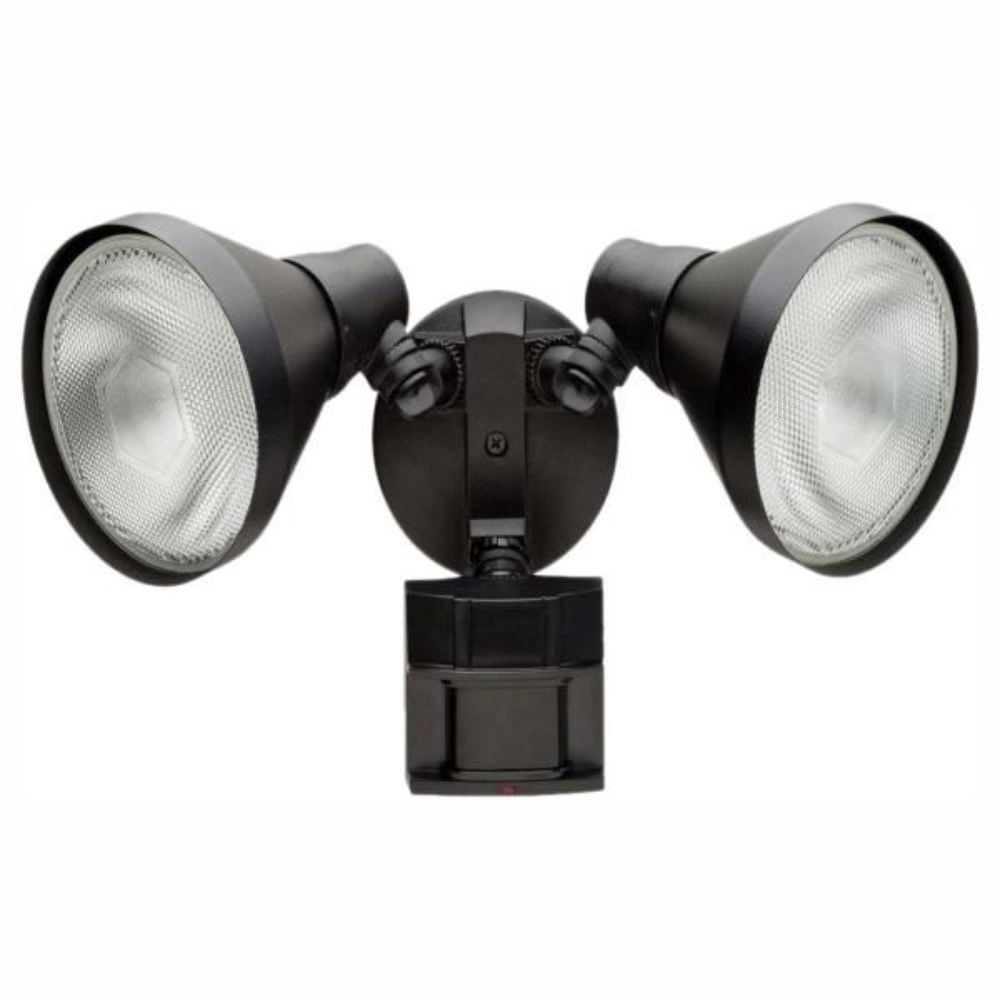 Defiant 180 Degree Black Motion Sensing Outdoor Security Light Df 5416 Bk A The Home Depot