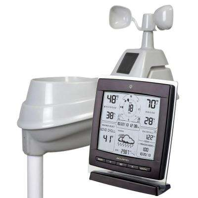 Digital Weather Station 5-in-1 with Wind Speed and Direction for Forecast, Temperature and Rainfall