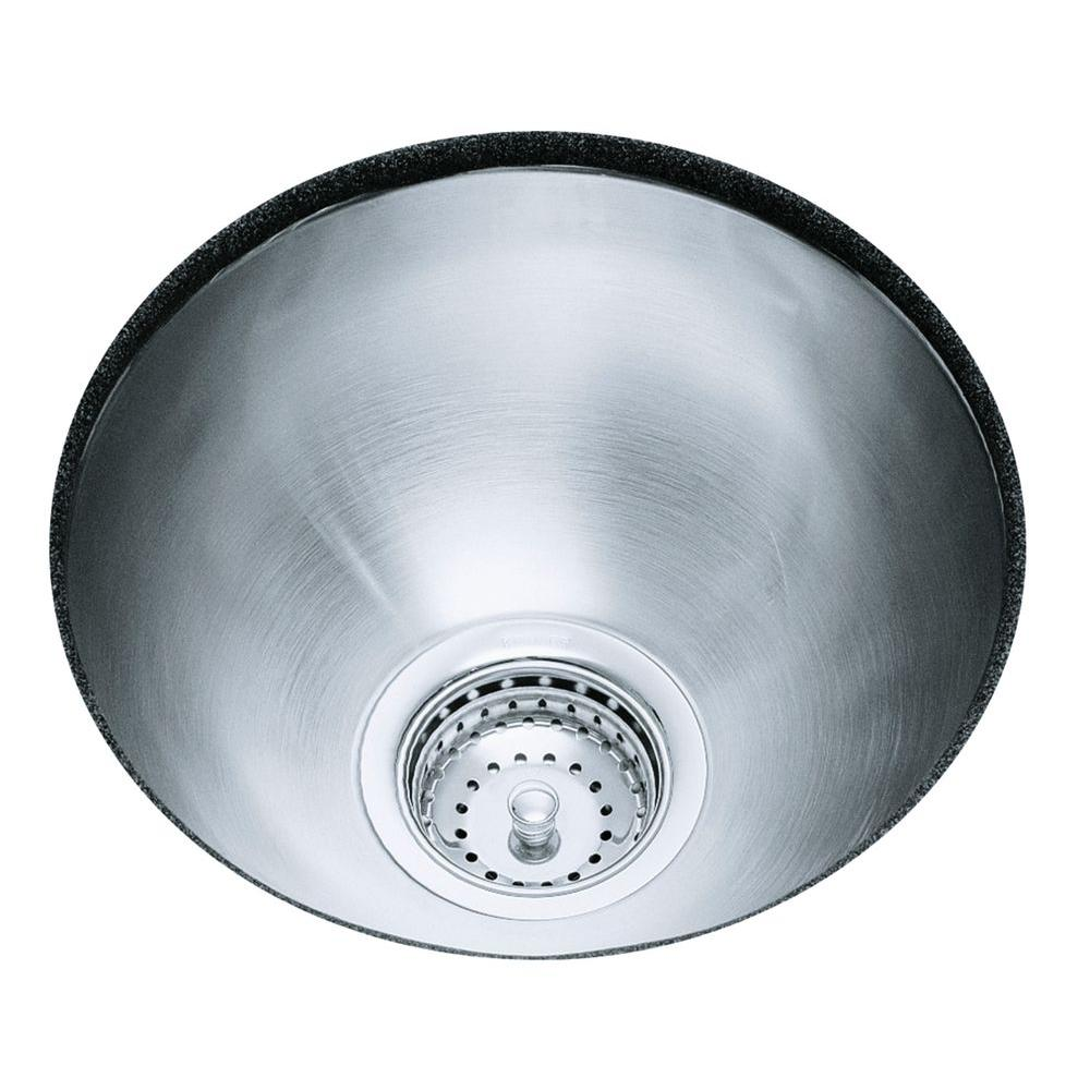 KOHLER Undertone Undercounter Undermount Stainless Steel 13.625 in.0 ...