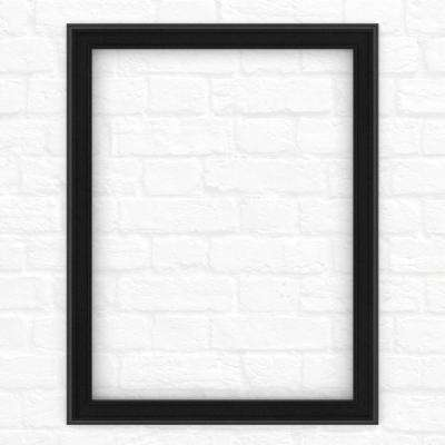 23 in. x 33 in. (S2) Rectangular Mirror Frame in Matte Black
