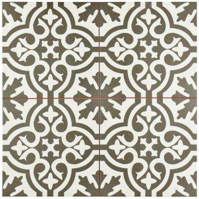 Berkeley Charcoal Brown 17-5/8 in. x 17-5/8 in. Ceramic Floor and Wall Tile (11.1 sq. ft. / case)