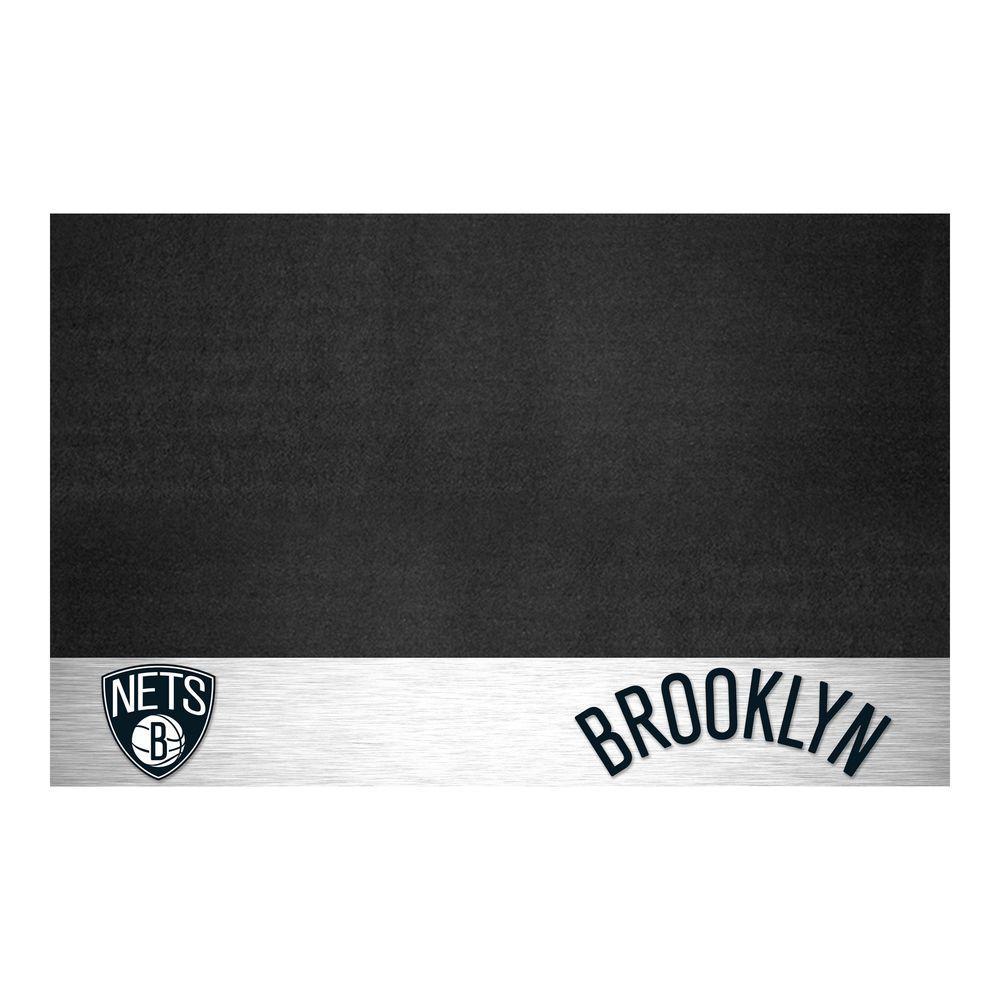 FANMATS Brooklyn Nets 26 in. x 42 in. Grill Mat