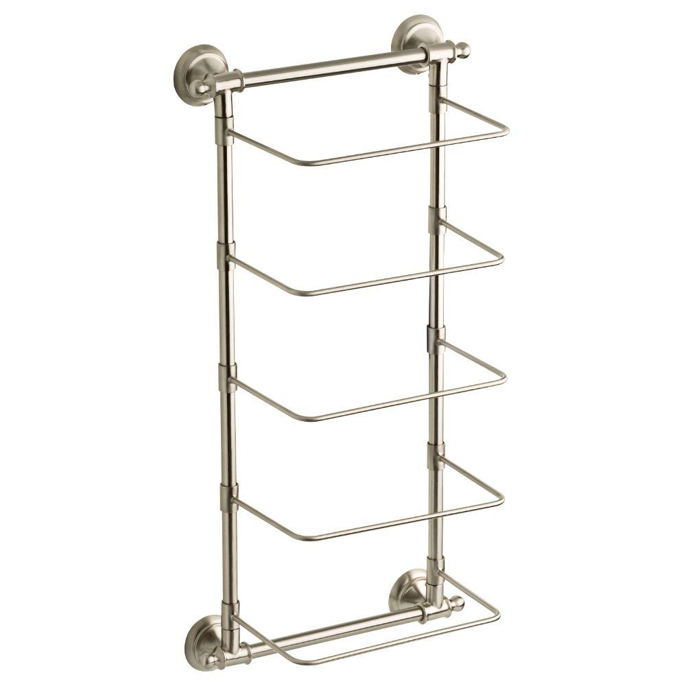 5-Bar Wall-Mounted Towel Rack in SpotShield Brushed Nickel  sc 1 st  Home Depot & Towel Racks - Bathroom Hardware - The Home Depot