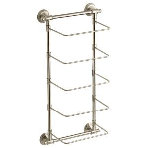 5-Bar Wall-Mounted Towel Rack in SpotShield Brushed Nickel