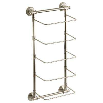 Amazing 5 Bar Wall Mounted Towel Rack In SpotShield Brushed Nickel