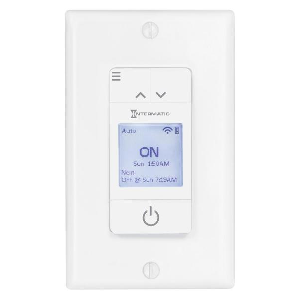 Ascend Smart Wi-Fi 15A 7-Day LED, Switch/Timer, No Hub Required, Works with Alexa, Google Assistant