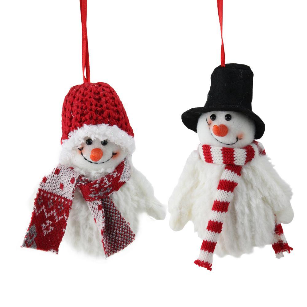 Mini Black Christmas Tree: Northlight 5 In. Set Of Tiny Smiling Christmas Fuzzy