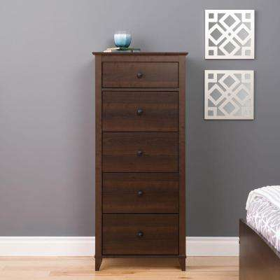 Yaletown 5-Drawer Espresso Chest
