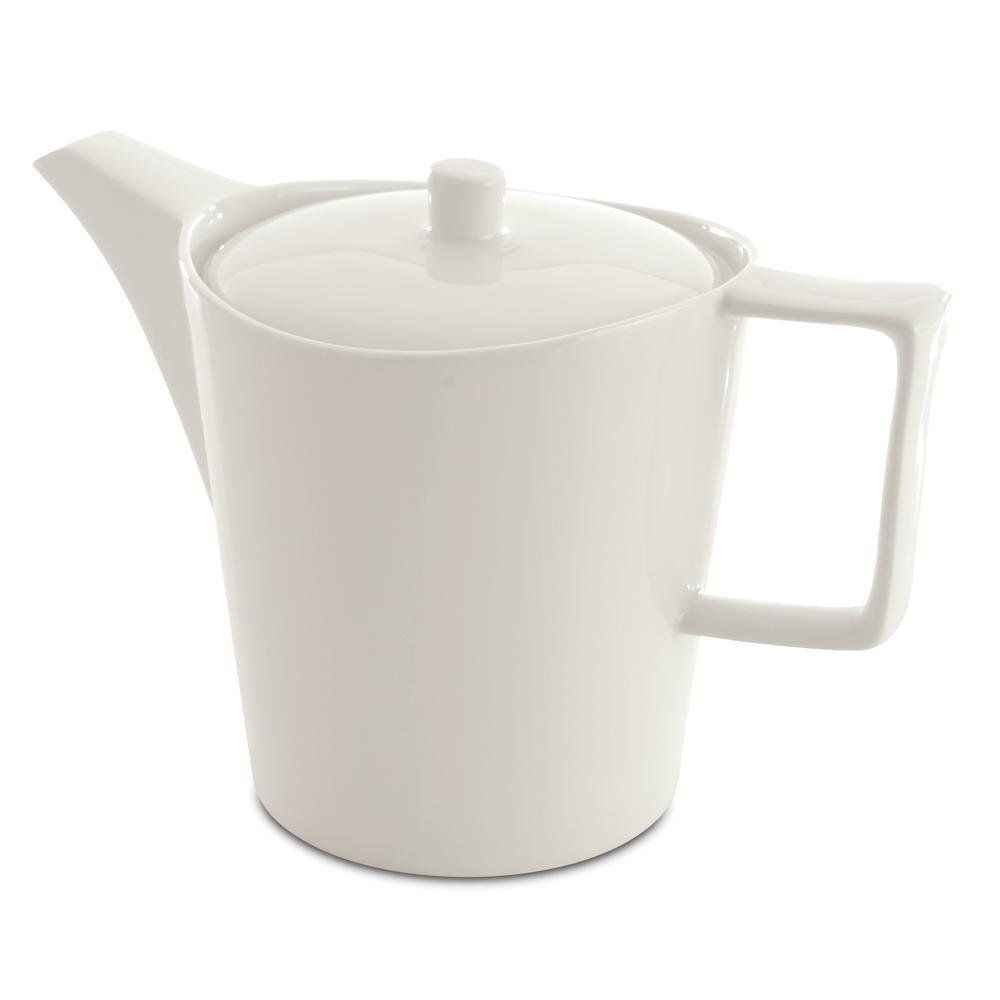 Eclipse 5.6-Cup White Porcelain Tea Pot