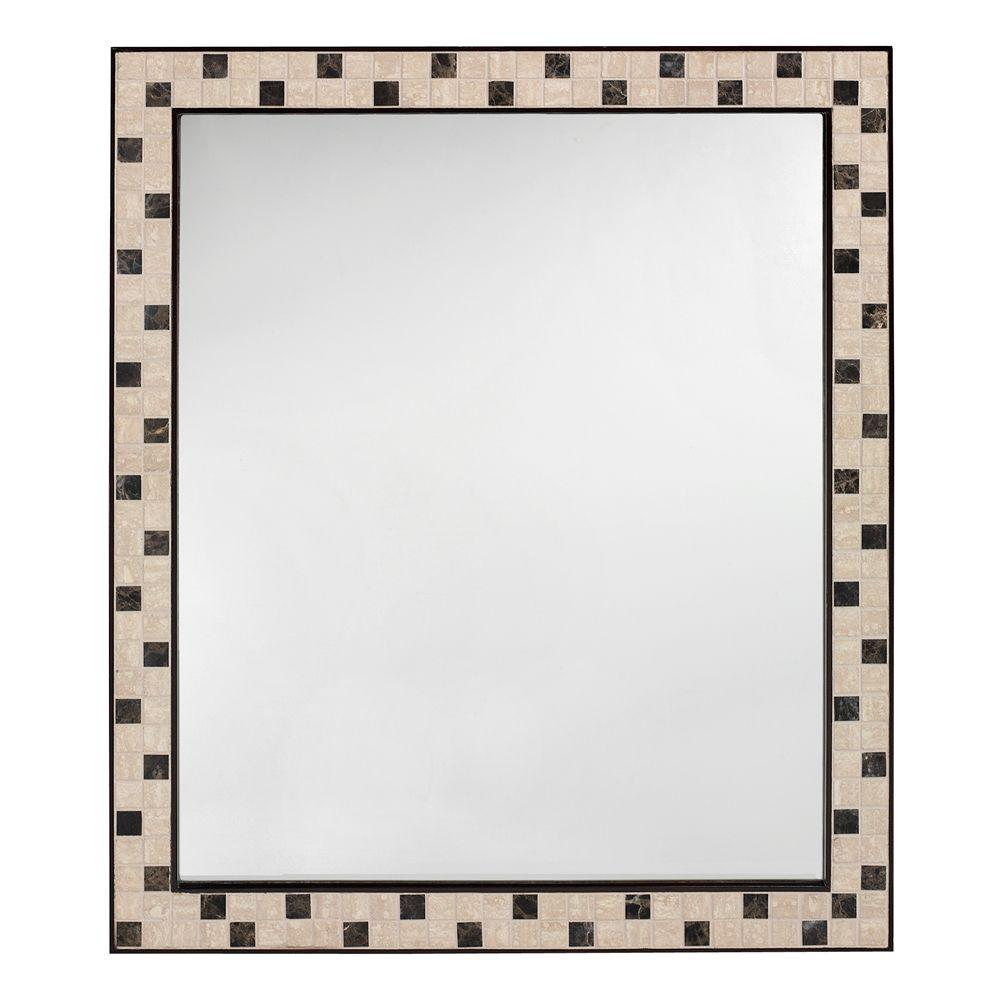 Home Decorators Collection Argonne 33 In. X 28 In. Mirror In Espresso  Frame 0416710820   The Home Depot