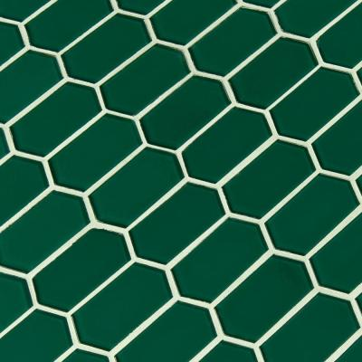 Laurel Picket Textured 12 in. x 10 in. x 8mm Glass Mesh-Mounted Mosaic Wall Tile (8.3 sq. ft. / case)