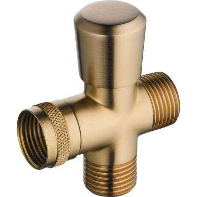 Traditional 3-Way Shower Arm Diverter for Handshower in Champagne Bronze