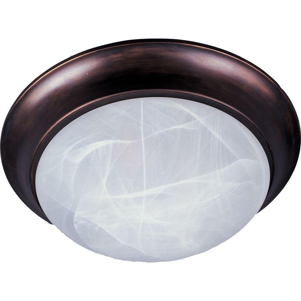 Maxim Lighting Essentials 2-Light Oil-Rubbed Bronze Flushmount