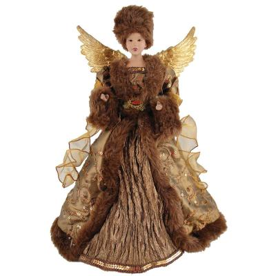 17 in. African American Earthly Angel Tree Topper