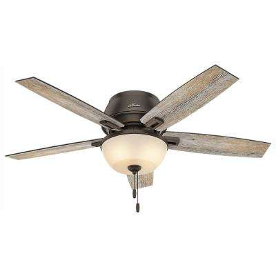 Donegan 52 in. LED Low Profile Indoor Onyx Bengal Bronze Ceiling Fan