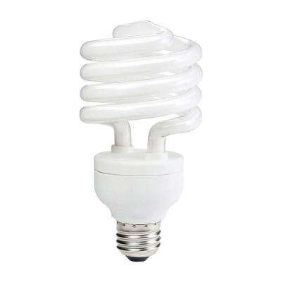 100-Watt Equivalent T3 A-Line Spiral CFL Light Bulb Warm White (3500K)
