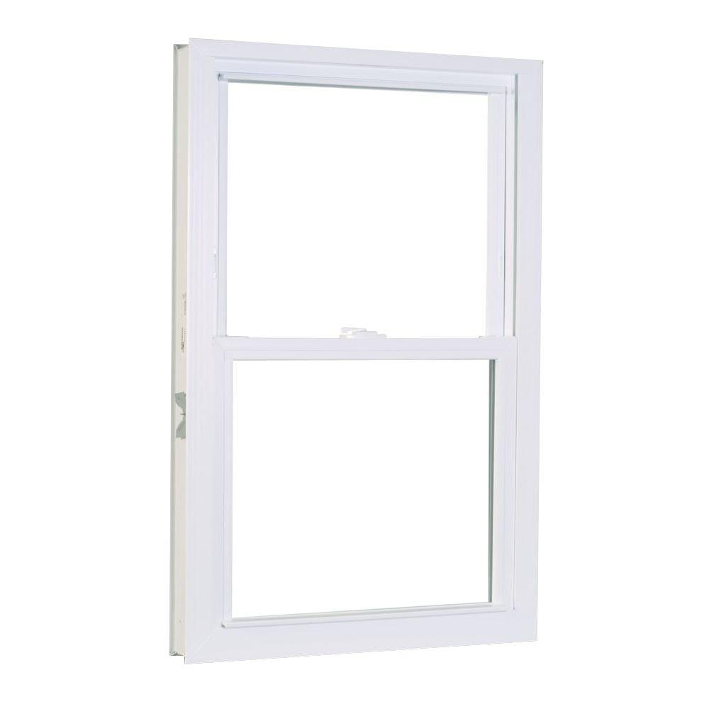 Tafco windows in x in hopper vinyl window for Double hung replacement windows reviews