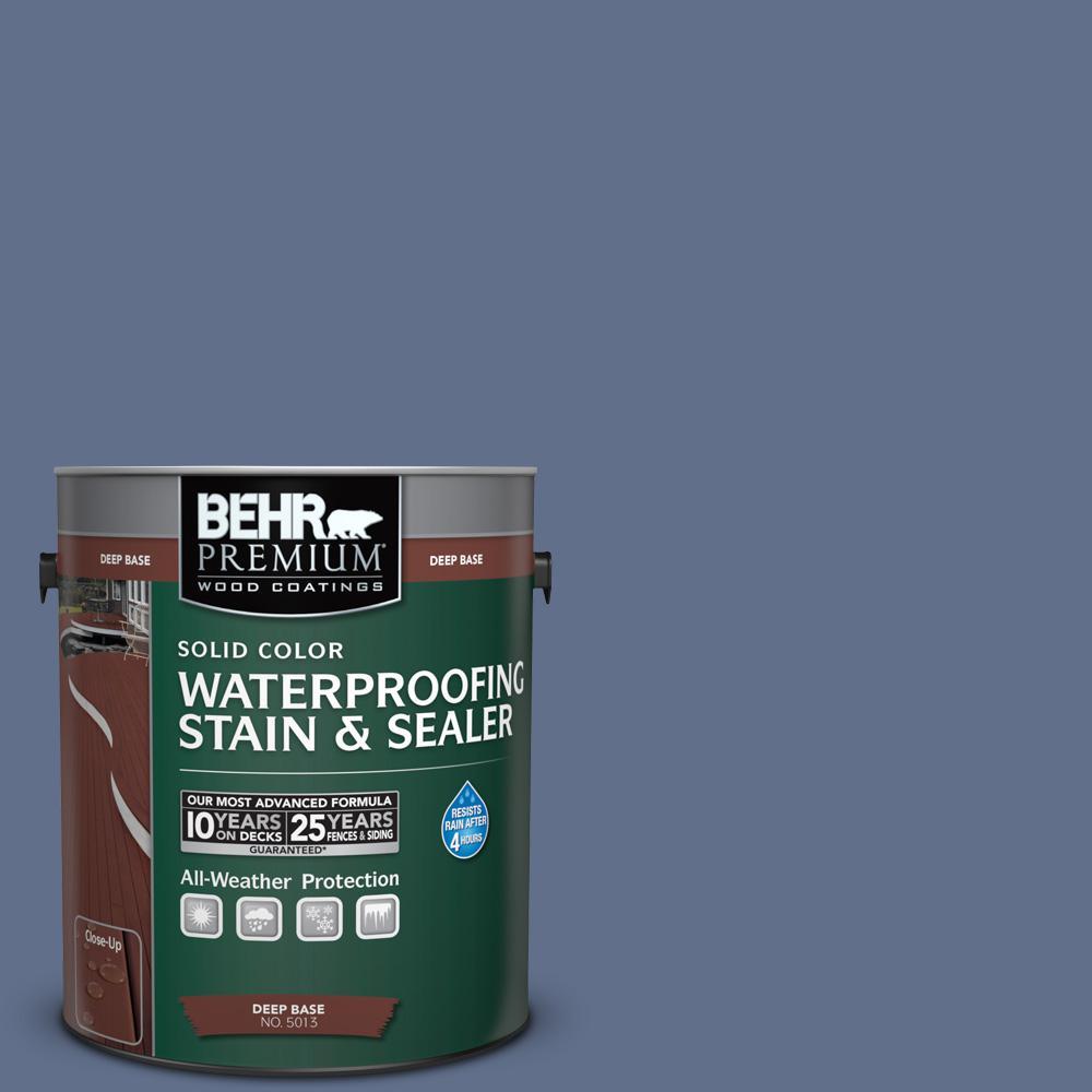 1 gal. #600F-6 Atlantic Blue Solid Waterproofing Stain and Sealer
