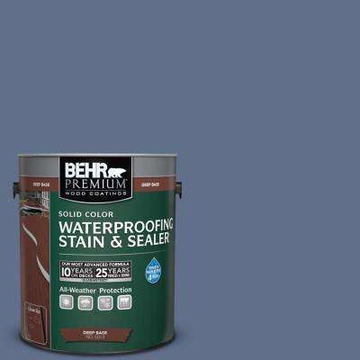 1 gal. #600F-6 Atlantic Blue Solid Waterproofing Stain and Sealer