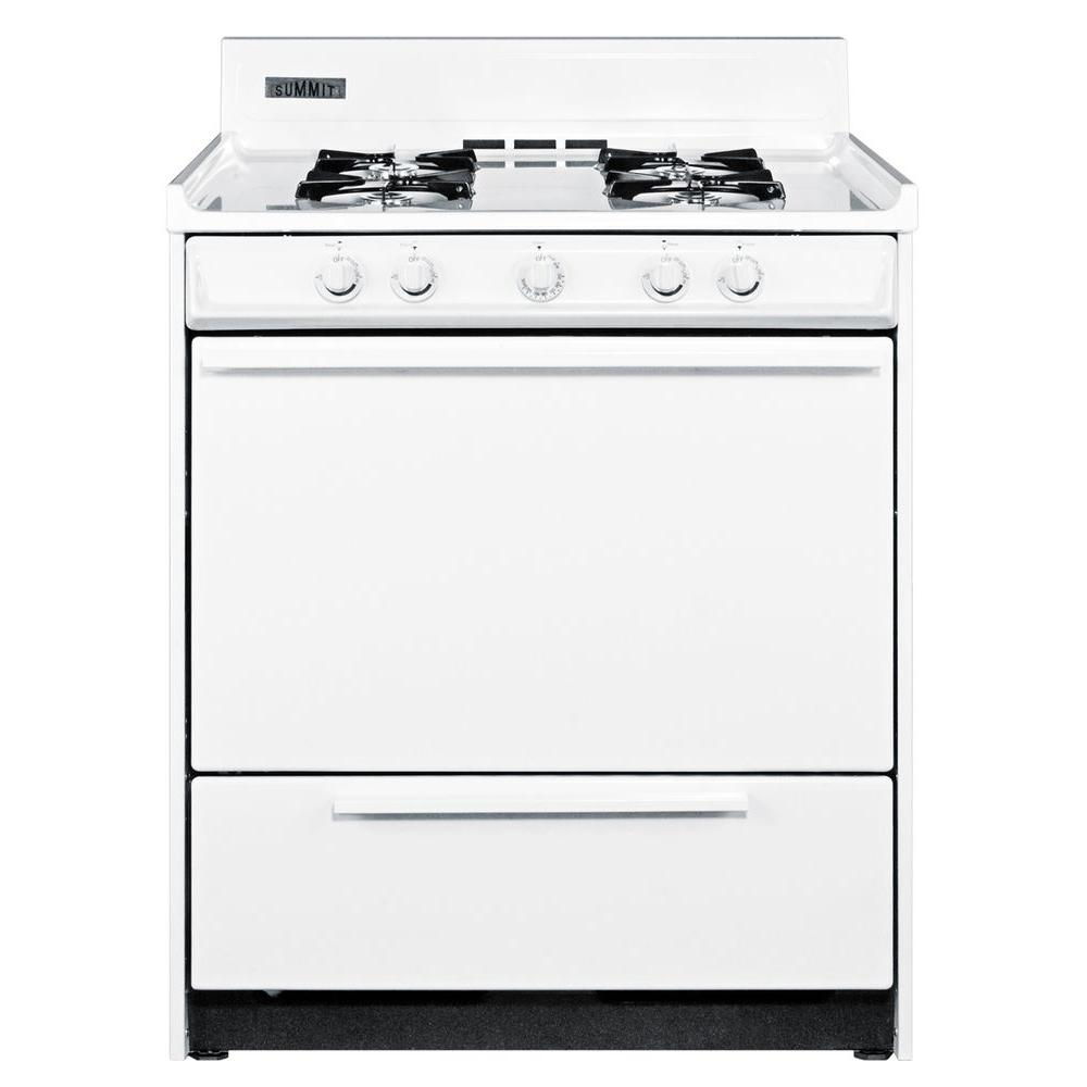 Summit Appliance 30 in. 3.69 cu. ft. Gas Range in White