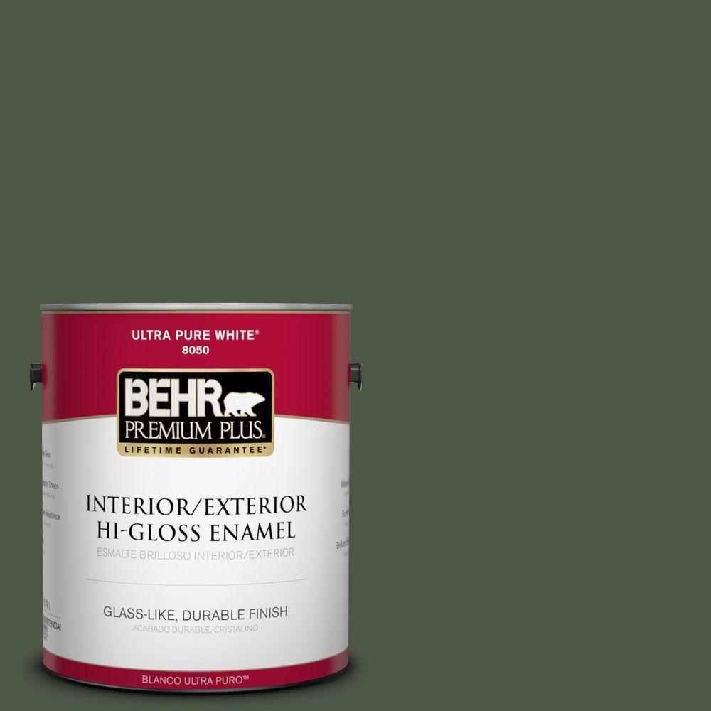 1-gal. #440F-7 Fresh Pine Hi-Gloss Enamel Interior/Exterior Paint